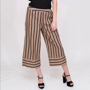 ceff4fe2b8d5 Pants - Striped Wide Leg Culotte Pants work pants